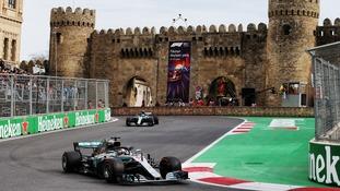 Hamilton rides luck to win Azerbaijan Grand Prix