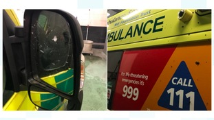 West Midlands ambulance attacked by vandal while patient was being treated inside