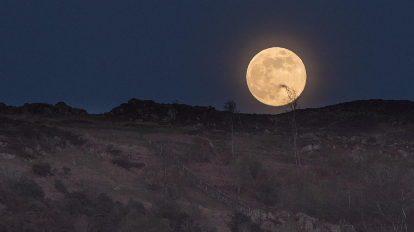 Last Night S Pink Full Moon Your Pictures Granada