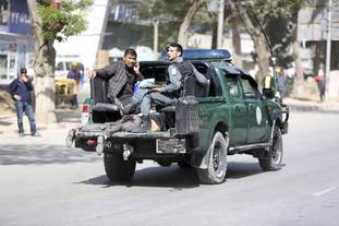 Emergency teams responded to the blasts in Afghanistan
