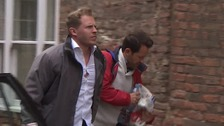Russell and Alan Taylor arriving at King's Lynn Magistrates Court.