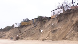 Coastal erosion at Hemsby in Norfolk has already claimed six clifftop homes.