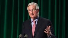 Michel Barnier has visited the Irish border town of Dundalk
