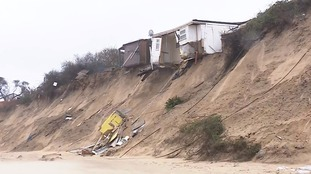 Stormy seas have caused more coastal erosion at Hemsby in Norfolk claiming more clifftop homes.