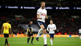Harry Kane scores his 27th Premier League goal of the season as Tottenham beat Watford