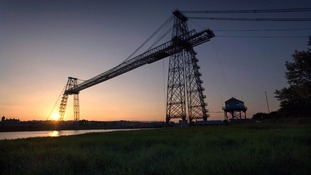 Newport's transporter bridge.