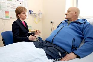 First Minister Nicola Sturgeon spoke on a visit to Edinburgh Royal Infirmary.