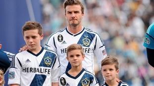 Brooklyn (left) is David Beckham's oldest child