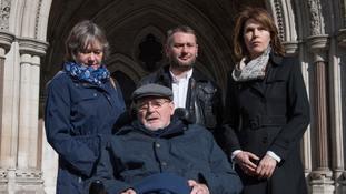 Noel Conway, 67, who suffers from motor neurone disease.