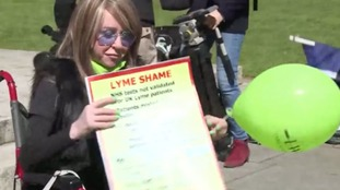 Protesters raise awareness about Lyme disease