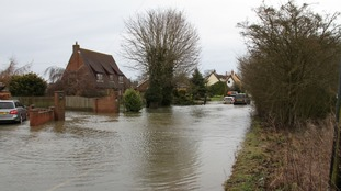 Flooding in Bacton, Norfolk on Easter Monday - 2 April 2018