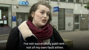 Poppy McCrae said she was 'furious' that she had not been unable to pay her rent.