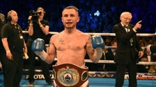 Carl Frampton after beating Nonito Donaire in Belfast.