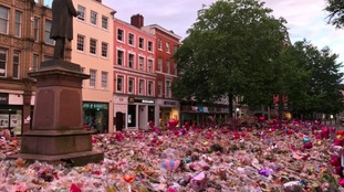Tributes in St Ann's square