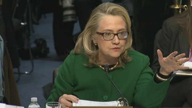Hillary Clinton speaking to the committee