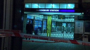 The shooting take place outside Queensbury Tube station in north-west London