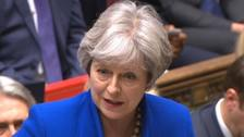 Theresa May speaks during Prime Minister's Questions