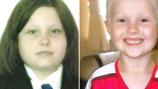 Sophie Fletcher, aged 12, and Jack Fletcher, aged 10