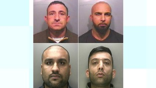 Four men were jailed for a total of 35 years