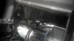Police body-camera videos show views of Las Vegas shooter's room