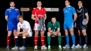 Pascal Pape, Chris Robshaw, Sam Warburton, Jamie Heaslip, Sergio Parisse and Kelly Brown