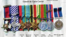 The medals had belonged to Squadron Leader Gerald de Lucie Carver
