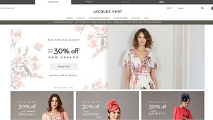 Debenhams and House of Fraser will be affected by Jacques Vert's collapse.