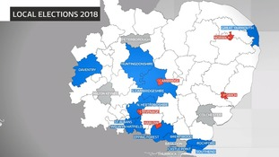 Council areas in the Anglia region with elections in May 2018.