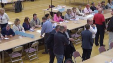Counting of the votes in the local election in Colchester.
