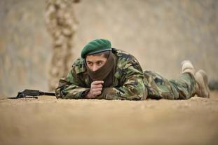 Afghan National Army soldiers were taught by UK soldiers with the help of interpreters