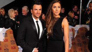 Peter Andre and girlfriend Emily MacDonagh arriving for the 2013 National Television Awards at the O2 Arena
