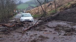 Photograph of landslide