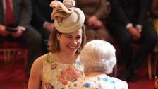 Darcey Bussell is made a Dame by the Queen at Buckingham Palace.