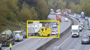 Police are at the scene of a crash on the M11