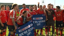 The hatters will be celebrating their promotion