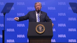 Donald Trump tells NRA an unnamed London hospital is 'like a war zone for horrible stabbing wounds'
