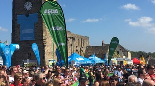 The start of the 2018 Tour de Yorkshire's stage three in Richmond.