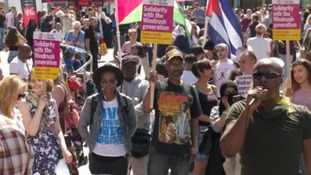 Rally over handling of the Windrush scandal was held in Birmingham today.