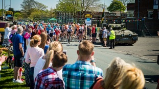 Tour de Yorkshire rides through Catterick for first time