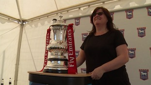 Fans turn out to see FA Cup back at Portman Road