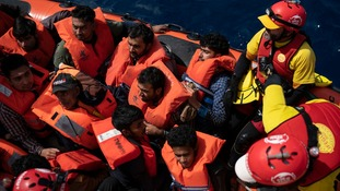 Rescued migrants were taken to Port of Malaga, Spain.