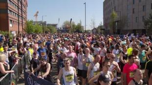 Thousands join the Great Birmingham 10k run.