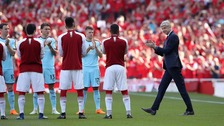 Arsene Wenger was given a guard of honour by Arsenal and Burnley before the match.