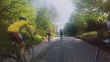 Amateur cyclists taking part in the Tour de Yorkshire Ride sportive.