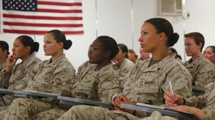 Females marines talk about their experiences in Helmand province Afghanistan