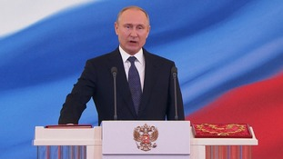 Vladimir Putin takes the oath of office for his fourth term as Russian President.