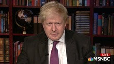 Foreign Secretary Boris Johnson appeared on US TV supporting the Iran nuclear deal.