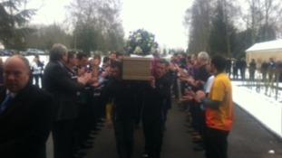 Jason Laman's coffin