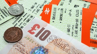 Trains tickets and money