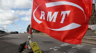 Members of the RMT Union are staging a 24 hour strike
